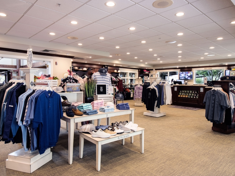 Full view of inside the Inn Golf Shop