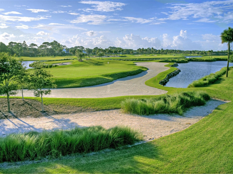 Lagoon golf course