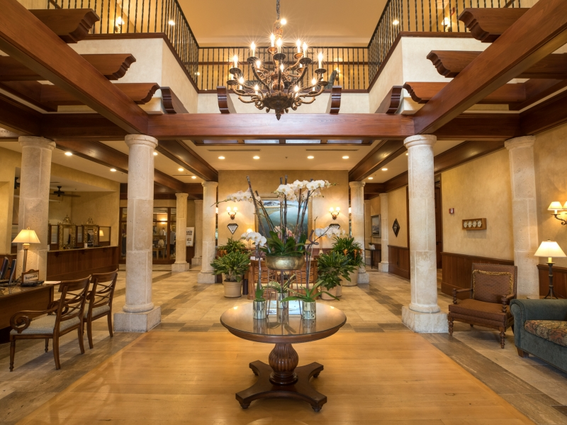 main lobby at the inn and club