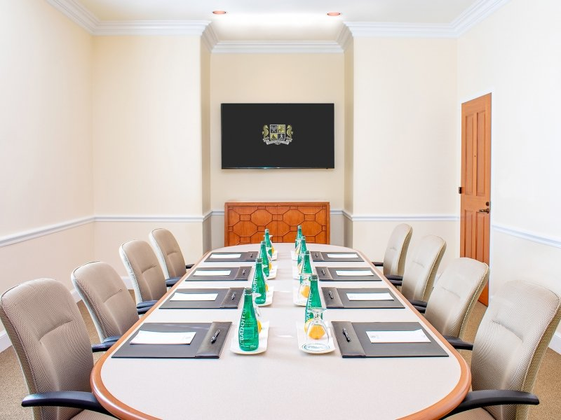 boardroom setup in Kingfisher room