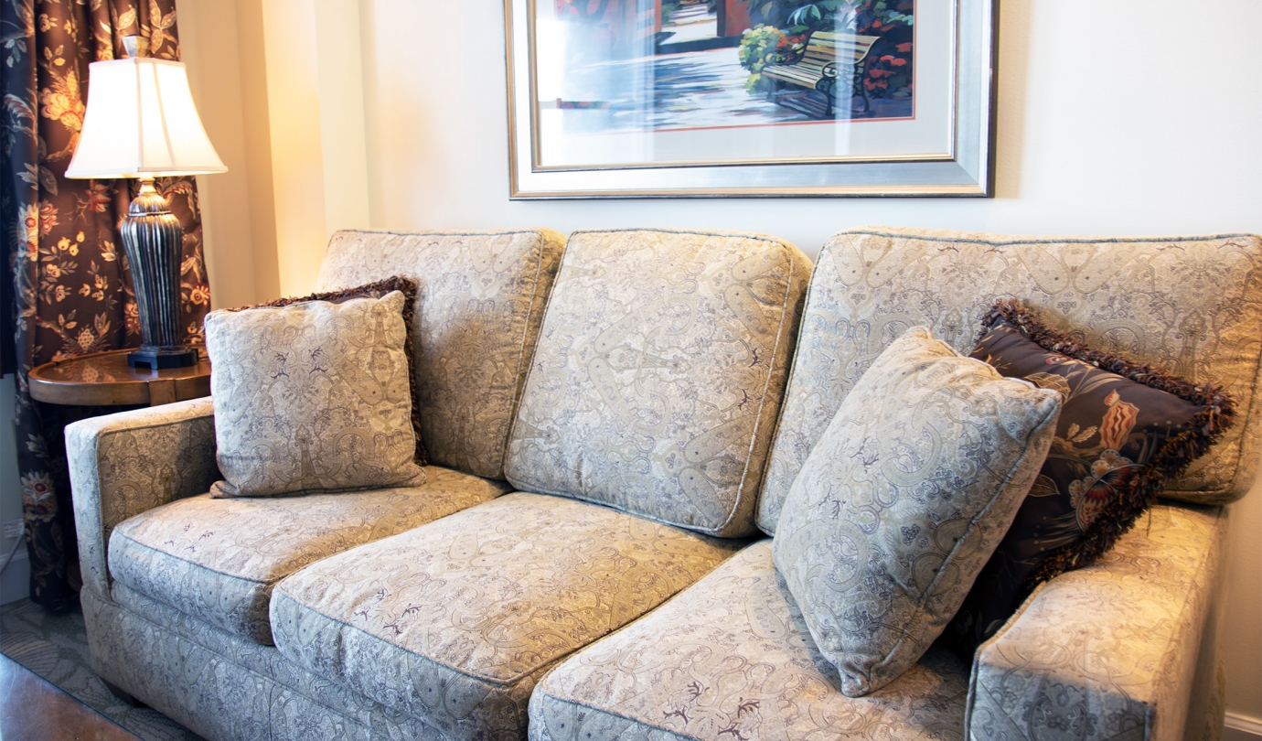 Oceanfront suite couch