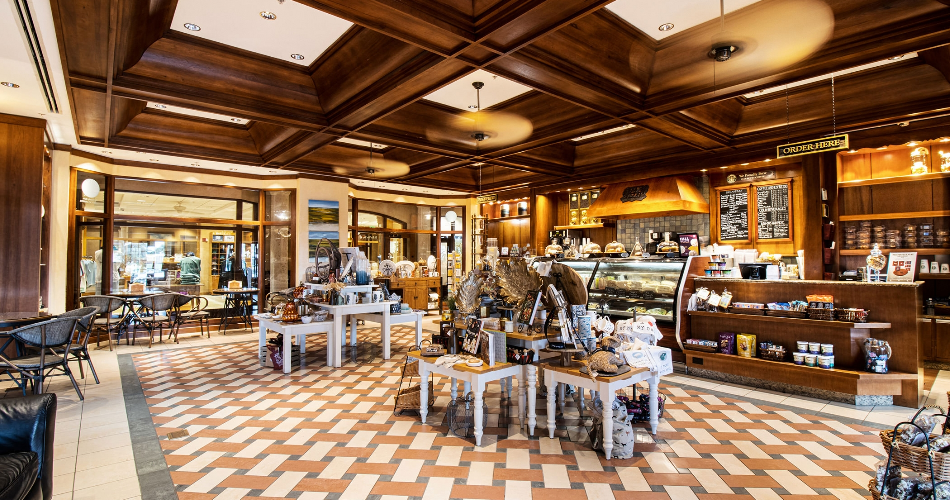 View of the inside of the Gourmet Shop at the Inn
